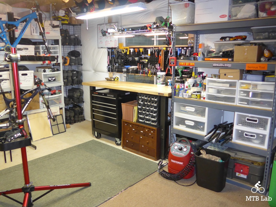 Home bike shop part i set up for Home mechanic garage layout ideas