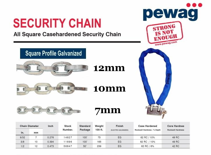 Pewag Security Chain and Lock In A Box